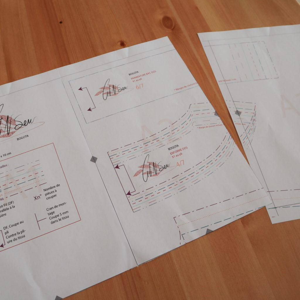 patron de couture pdf assemblage