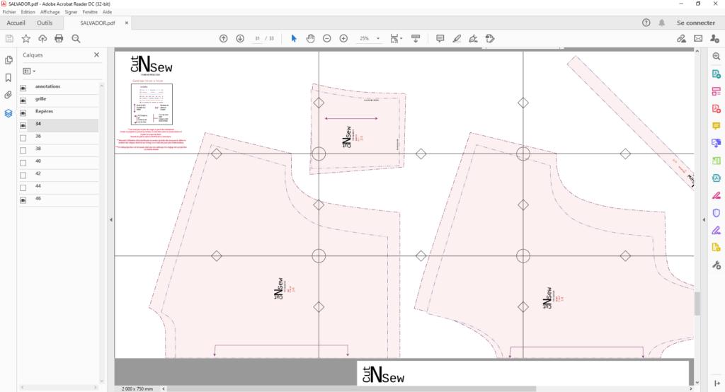 format projecteur pour patrons de couture explications